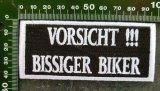 Aufnäher Vorsicht Bissiger Biker