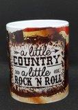 Tasse mit Country Rockn Roll Druck